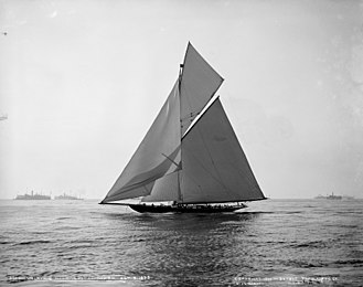 Valkyrie II - Valkyrie II during the 1893 cup races.