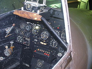 Dewoitine D.520 - Gunsight and instrument panel from the D.520 on display at Le Bourget