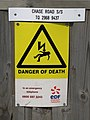 DANGER OF DEATH - geograph.org.uk - 1400242.jpg
