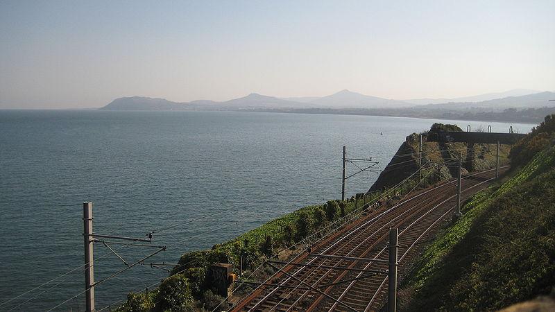 File:DART line at Dalkey looking south.JPG