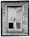 DETAIL OF MAIN ENTRY DOORS SCALED - Cadentown Rosenwald School, Caden Lane, Lexington, Fayette County, KY HABS KY-288-10.tif