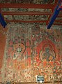 Damaged ancient Tibetan paintings of Tholing in 2007, Tholing Kloster (Tibet) Weißer Tempel Restaurierung durch Schweizer Stiftung Dieter Schuh (cropped).JPG