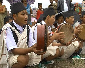 Damphu drum -  Performers using Damphu