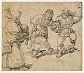Dancing Peasant Couple and a Bagpiper attributed to Aertgen Claesz van Leyden.jpg
