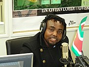 Dareysteel picture on his radio interview in Amsterdam holland