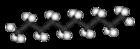 Kugel-Stab-Modell von Decan