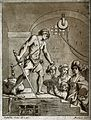 Decapitation of Saint John the Baptist. Etching by S. Mulina Wellcome V0032490.jpg