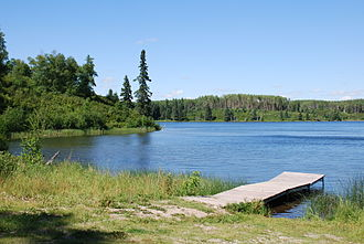 Manitoba - Deep Lake at Riding Mountain National Park.