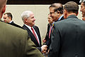 Defense.gov News Photo 110311-D-XH843-005 - Secretary of Defense Robert M. Gates shakes hands with Defense Minister of Afghanistan Abdul Rahim Wardak 2nd from right at the NATO headquarters.jpg