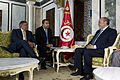 Defense.gov News Photo 120730-D-BW835-107 - Secretary of Defense Leon E. Panetta, left, meets with Tunisian Prime Minister Hamadi Jebali, right, in Tunis, Tunisia, on July 29, 2012. Panetta is on a 5-day trip to th.jpg