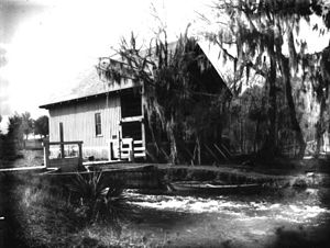 DeLeon Springs, Florida - Gristmill house at DeLeon Springs, ca. 1910