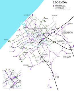 The Hague tramway network, 2013