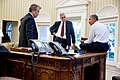 Denis McDonough, Jeffrey Zients and Barack Obama, July 2015.jpg