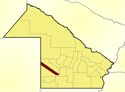 Location of Chacabuco Department in Chaco Province