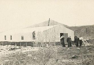 Population transfer in the Soviet Union - Deportee barrack in the Kolyma region, 1957
