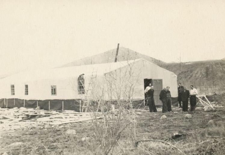 Deportee barrack in the Kolyma region