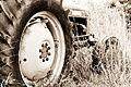 Derelict tractor, Somerset (4960660157).jpg