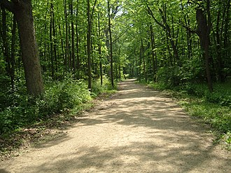 Des Plaines River Trail - Typical section of the Des Plaines River Trail in Lake County, Illinois