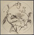 Design for a Plate Decorated with a Bird and Plant Motifs MET DP809541.jpg