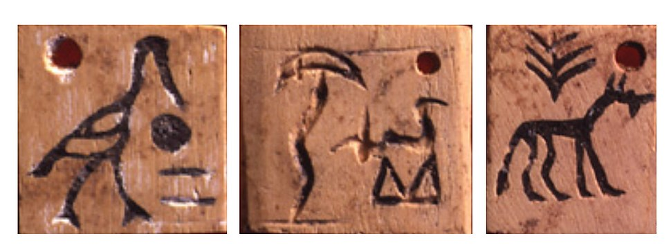 Design of the Abydos token glyphs dated to 3400-3200 BCE