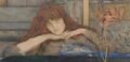 Detail, I lock my door upon myself, Khnopff.png