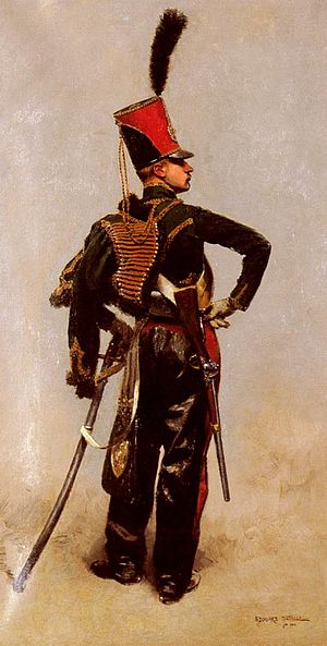 7th Hussar Regiment (France) - A Hussar of the 7e régiment de hussards during the late Napoleonic era.