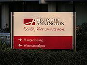 Firmenschild Deutsche Annington