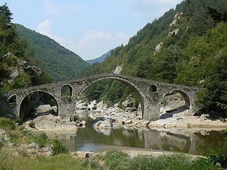 Arda (Maritsa) - Image: Devils bridge Ardino 1