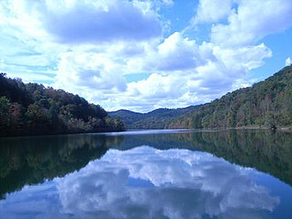 Jenny Wiley State Resort Park - Image: Dewey Lake fall