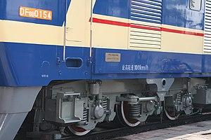 China Railways DF8 - DF8B-0154's bogie