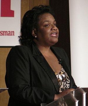 Diane Abbott speaking at the New Statesman hus...