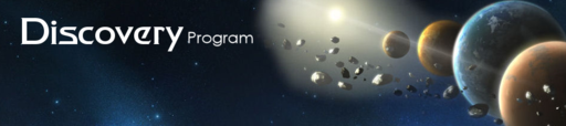 Discovery program website header, 2016