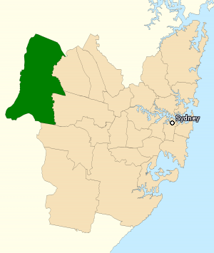 Division of Lindsay - Division of Lindsay in New South Wales, as of the 2016 federal election.