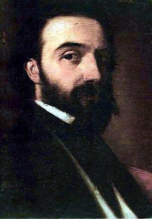 Đura Jakšić - Đura Jakšić, self-portrait (1858), oil