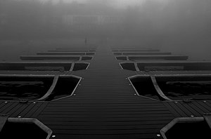 Lake Arrowhead, California - A boat dock alongside the water