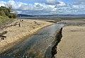 Dog walkers on Swansea beach at Blackpill (geograph 6659389).jpg