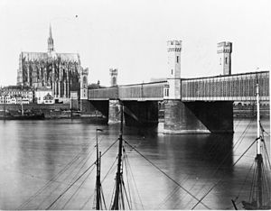 Cathedral Bridge - Image: Dombruecke 1850