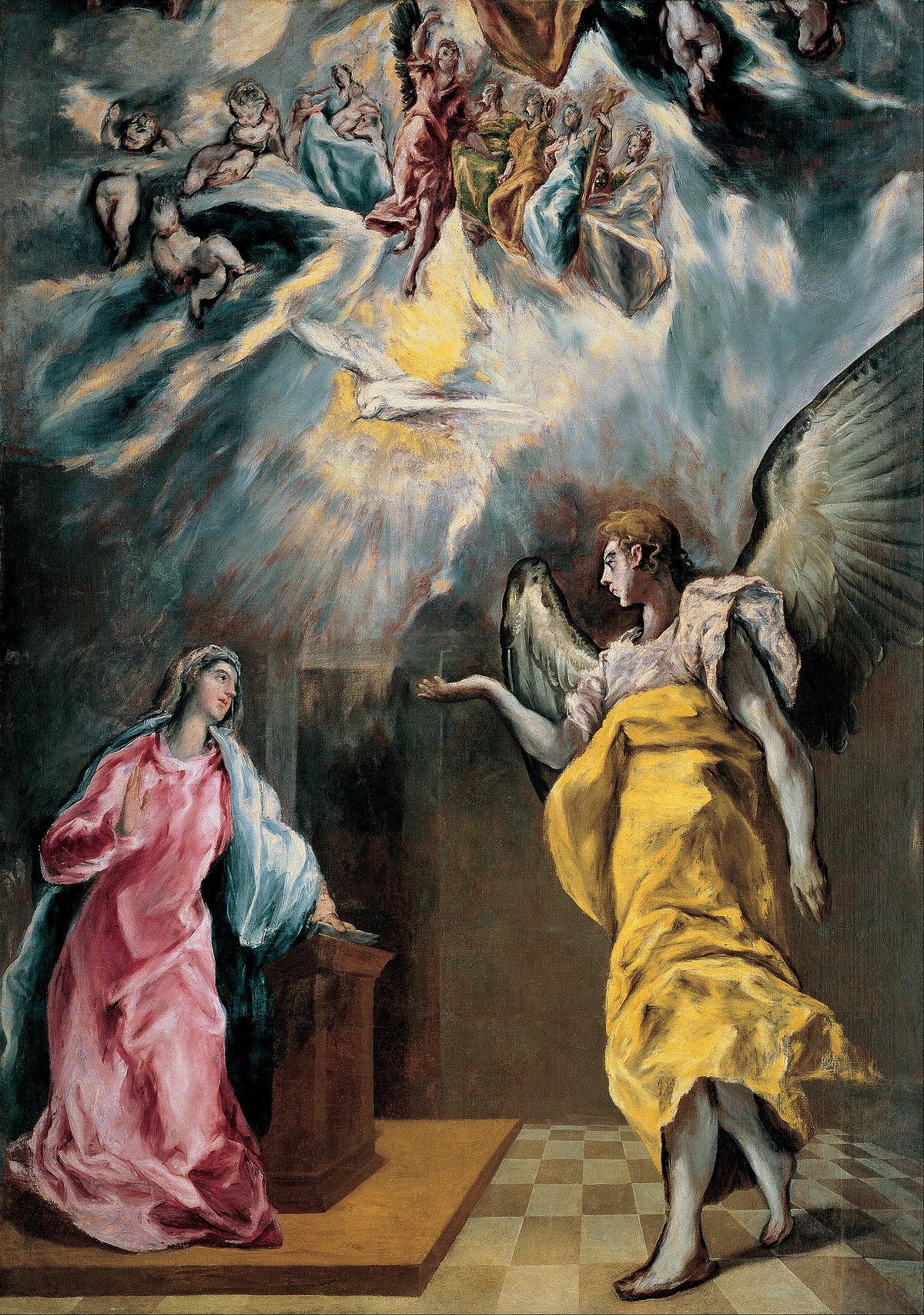 La anunciación (El Greco, Madrid) - Wikipedia, la