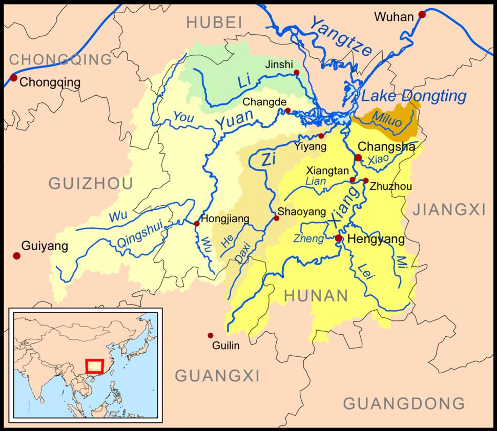 Dongtingriversmap