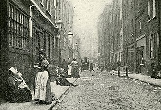 East End of London - Dorset Street, Spitalfields, photographed in 1902 for Jack London's book The People of the Abyss