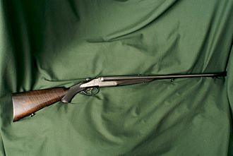 Double rifle - Holland & Holland double rifle in .375 H&H Magnum.
