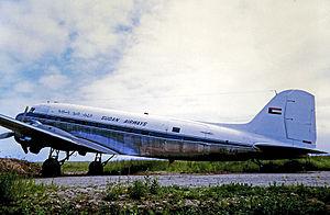Sudan Airways - Sudan Airways Douglas C-47B in 1971