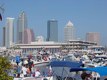This photograph is of Downtown Tampa and Tampa...
