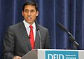 Dr Raj Shah, head of USAID, speaks at DFID.jpg