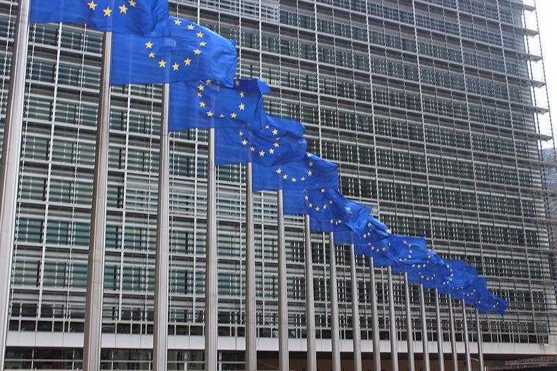 File:Drapeaux devant la commission européenne.jpg