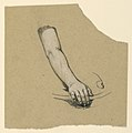 Drawing, study of hand to mid bicep, ca. 1890 (CH 18404495).jpg