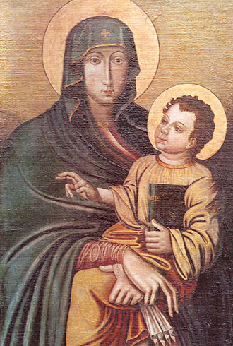 Jakob Rem - The copy  of the icon of Mary given to the Jesuit College at Ingolstadt.