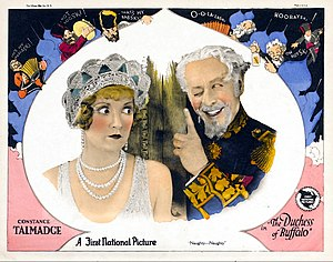 The Duchess of Buffalo - Lobby card with Constance Talmadge and Edward Martindel