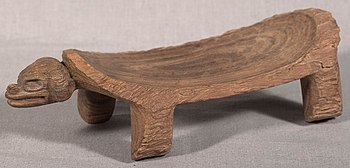 Dujo, a wooden chair crafted by Taínos.