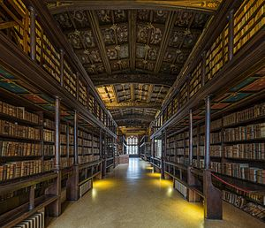 Duke Humfrey's Library - Image: Duke Humfrey's Library Interior 2, Bodleian Library, Oxford, UK Diliff